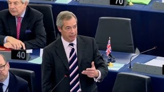 Nigel Farage to MEP Chairman Punching Insult 'Please Step Outside' French Police?