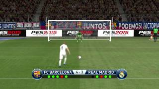 Pes 2015 - penalty shootout [barcelona vs real madrid]