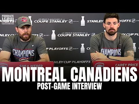 Carey Price & Shea Weber React to Montreal Canadiens Advancing to Stanley Cup Finals   Post-Game