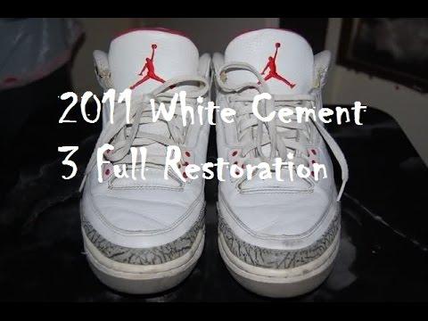 ab10565d44df 2011 Air Jordan White Cement 3 Full Restoration! - YouTube