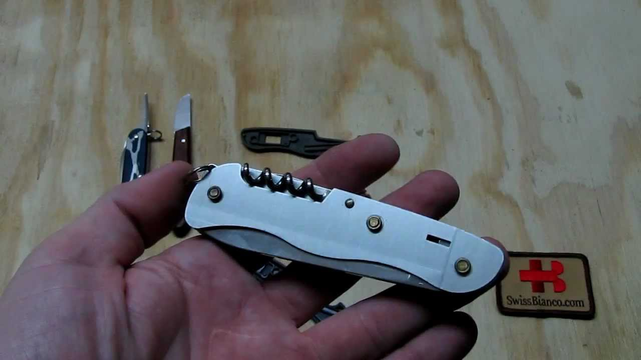 Victorinox 111mm Slide Lock Sak Scales Change Youtube