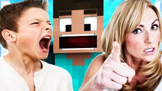 Playing Minecraft to Protest my Friend Being Grounded for Playing Roblox