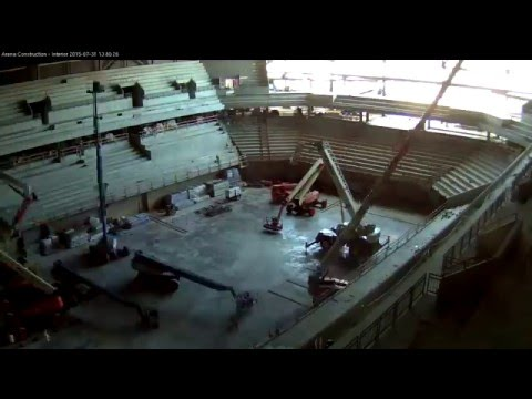 The Pavilion at Ole Miss construction time-lapse