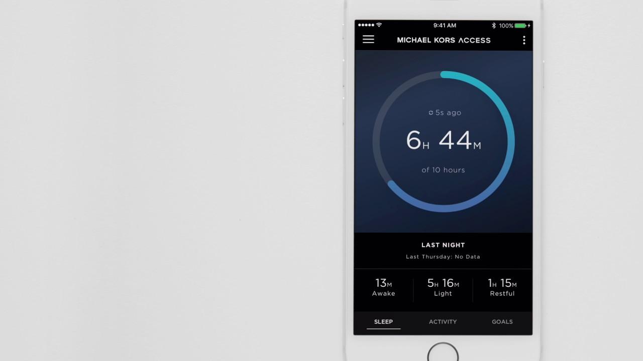 Michael Kors Zugang Hybrid Smartwatch / Tracking Ihren Schlaf