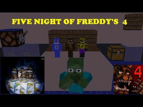 Monster School :FIVE NIGHT AT FREDDY'S 4 HORROR GAME CHALLENGE - Minecraft Animation