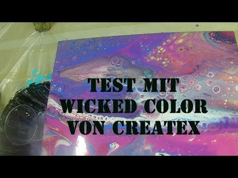 fluid 85 acryl giessen test mit createx wicked color youtube. Black Bedroom Furniture Sets. Home Design Ideas