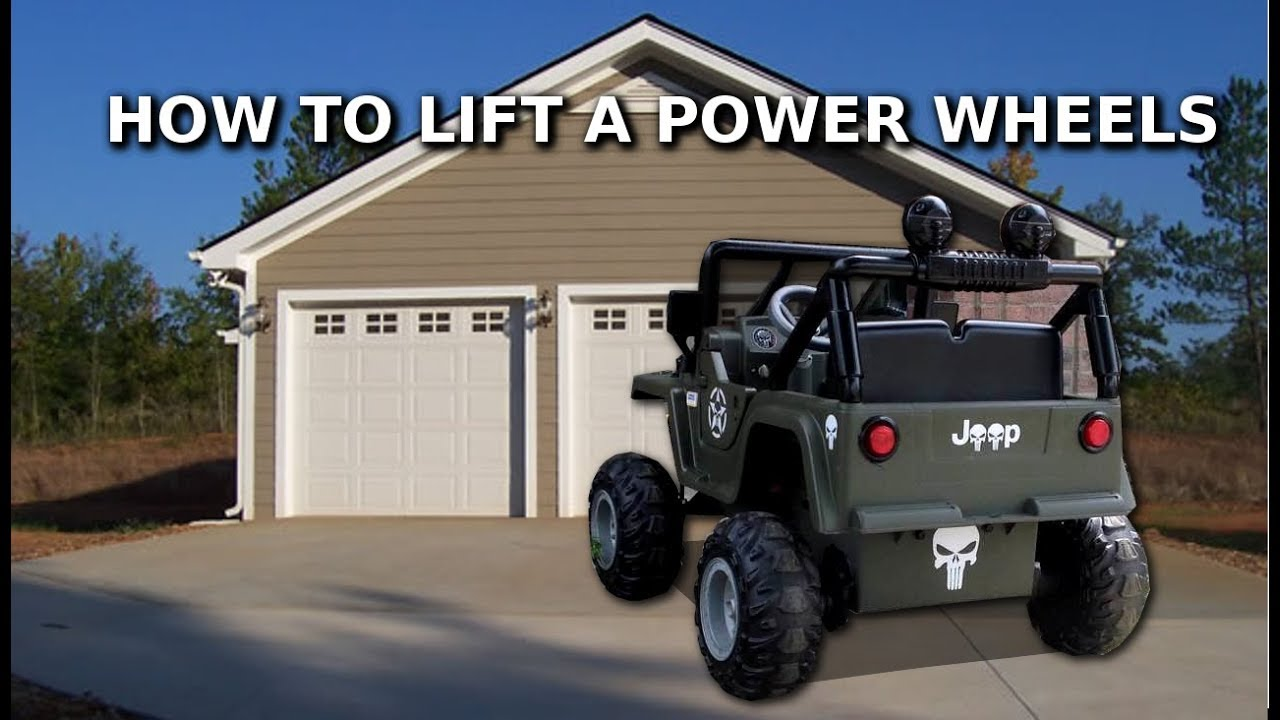 How To Lift A Power Wheels Jeep Youtube