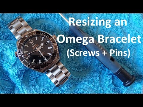 Omega Watch Bracelet Resizing (Screws & Pins)