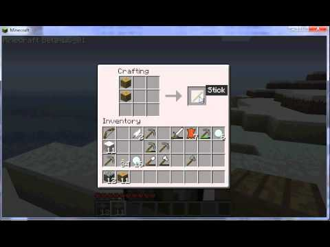 Minecraft comment cr er une pioche youtube - Comment faire une belle chambre minecraft ...