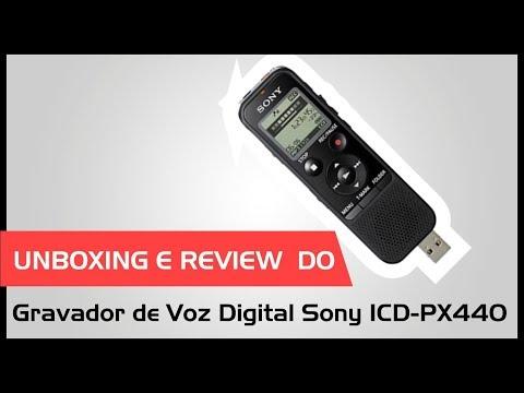 Gravador de voz  Sony PX440 Unboxing e Review