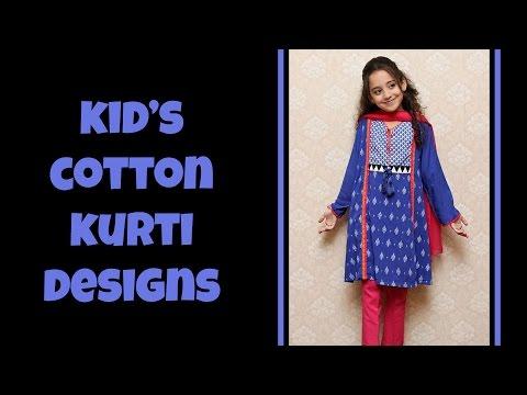Kid's Cute Cotton Kurti Designs