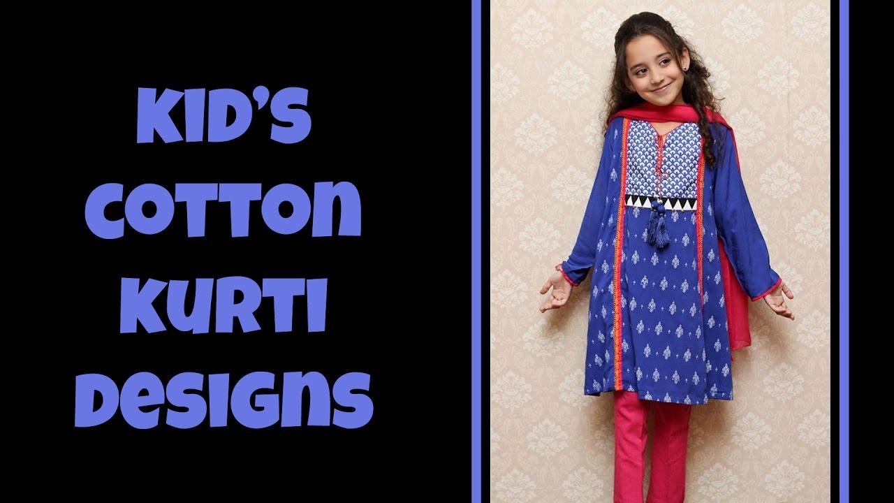 Kurti design 2017 - Kid S Cute Cotton Kurti Designs