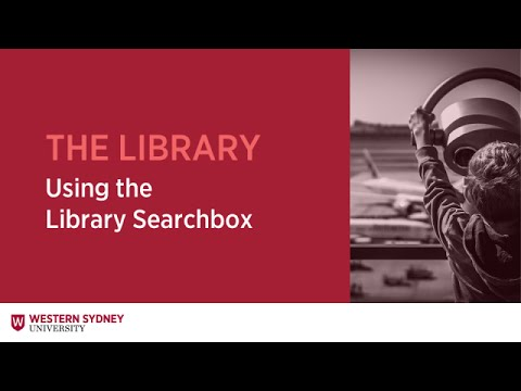 Using The Library Searchbox