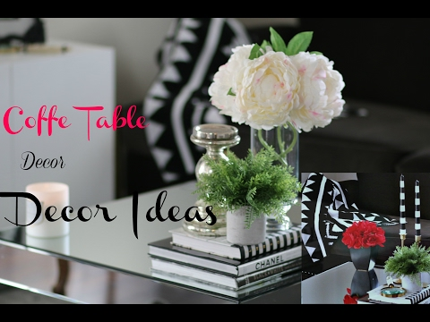 Coffee Table Decor and Style with me.. Modern Glam Chic........( Part 1)