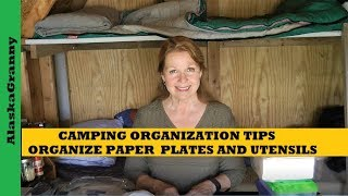 Camping Organization Ideas - Cąmp Kitchen Supplies Organize Plates Utensils