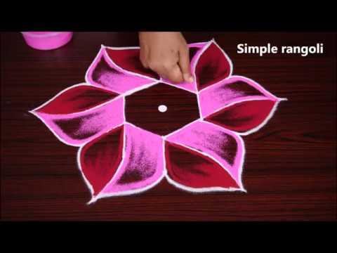Easy New Rangoli Designer With 5x3 Dots Simple Kolam