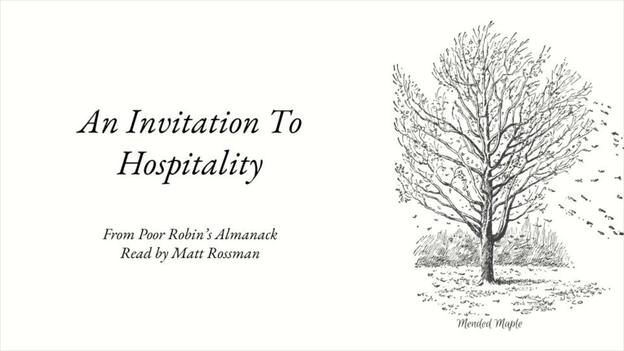 An Invitation To Hospitality From Poor Robins Almanack Christmas Poem