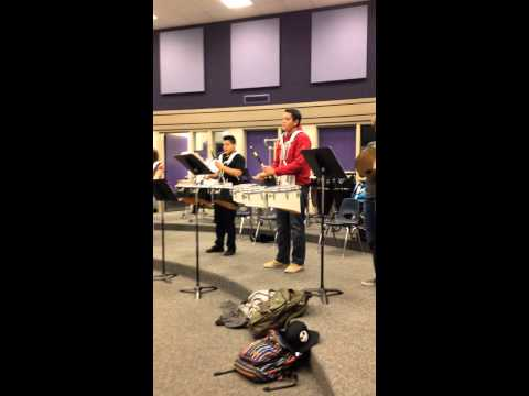 Percussion class at tokay high school