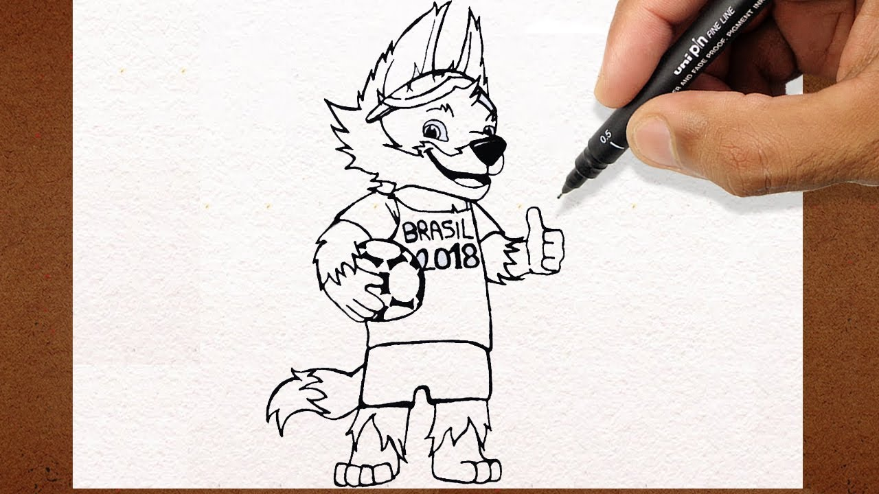 Como Desenhar Mascote Da Copa Camisa Do Brasil Russia 2018