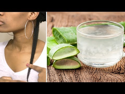 Faster Thicker HAIR GROWTH With Aloe Vera   Restore Damage (2018)