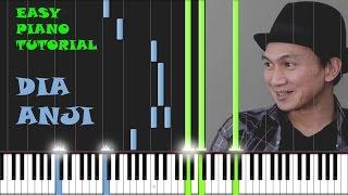 Gambar cover Anji - Dia - Easy Piano Tutorial- Intro