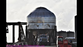 Download SpaceX Boca Chica - Starship Test Tank transported to Launch Site Mp3 and Videos