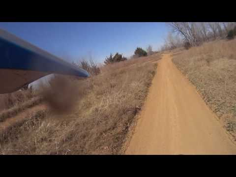 Dirt biking at Perry Lake ATV Area, Perry, Kansas Paul with Posty 5 2017 03 05
