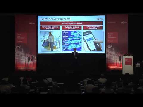 The keynote of Fujitsu Asia Conference 2016 Singapore