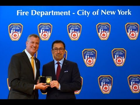 Mayor de Blasio Speaks at FDNY Commissioner Daniel Nigro's Swearing In