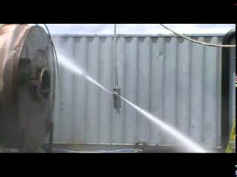 Hydroblast Yorkshire Tank Cleaning using torus nozzle from Stoneage .mpg