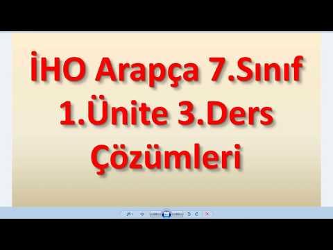 Download Mp3 Mp4 7 Sınıf Arapça 1 ünite 3 Ders çözümleri Mp3mp4dl