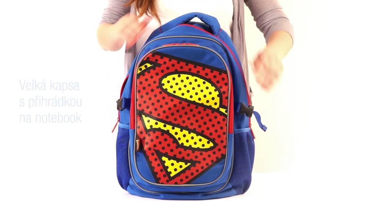 Ponchos Köln Large Backpack With Rain Poncho Superman Pop Presco Cz