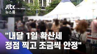 """[단독] """"내달 1일 확산세 정점 찍고 조금씩 안정""""…정부 보고서 / JTBC 뉴스룸"""
