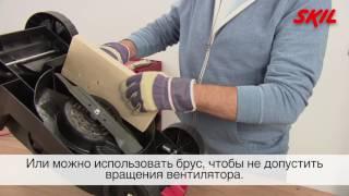 Как заменить режущий нож на электрической газонокосилке?