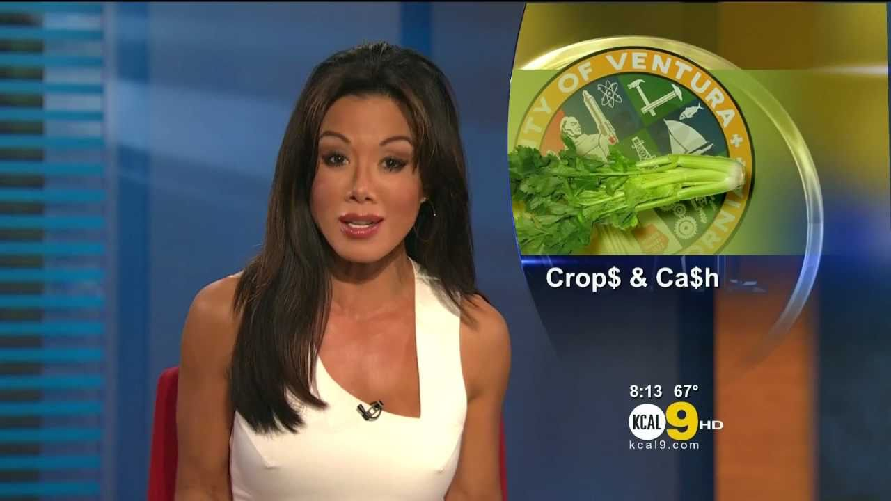 Sharon Tay 2011/07/20 8pm KCAL9 HD; Tight white dress