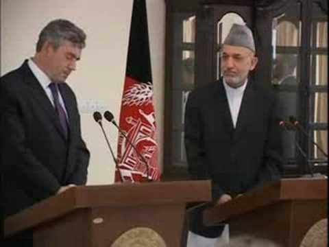 BRITISH PRIME MINISTER VISITS AFGHANISTAN