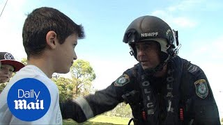 NSW police make young boy a 'superhero' for a day - Daily Mail