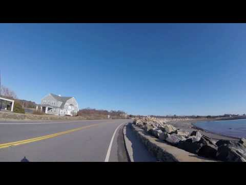 Sunny Atlantic Coastline Ride in March - North Hampton & Rye New Hampshire - Seacoast Nation