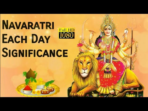 Navratri: Each Day Significance 2017
