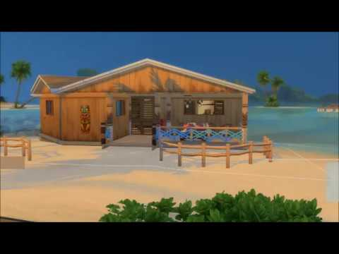 The sims 4 island living // speed building home for mermaid