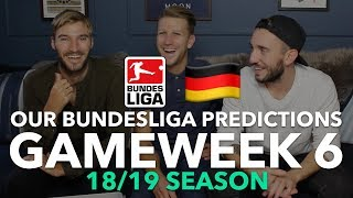 Bundesliga Tips - Gameweek 6 - 2018/2019
