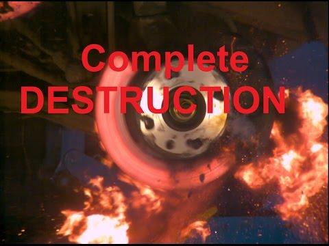 Ultimate car brake test video (Explosion!)