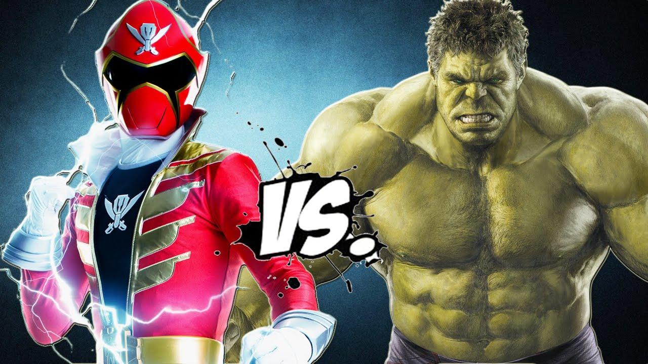 The Incredible Hulk Vs Red Super Megaforce Power Ranger Youtube
