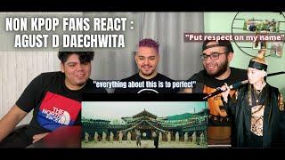 Agust D ('대취타') Daechwita MV (NON KPOP FANS REACT)