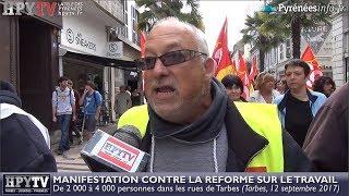 Manifestation contre la réforme du travail (12 septembre 2017) | HPyTv Tarbes