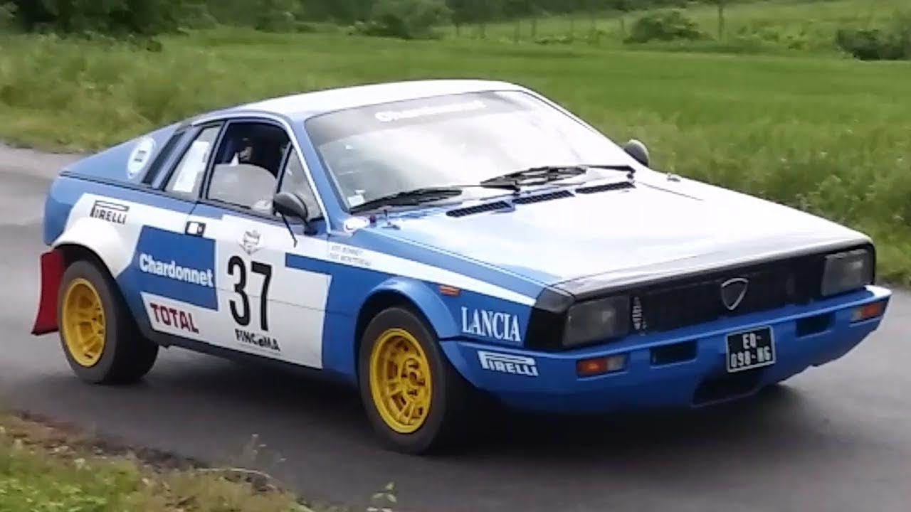 lancia beta montecarlo in action!! - rally 4 regioni 2018 - youtube