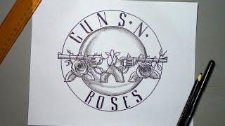 Cómo dibujar el escudo oficial de Guns N