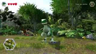LEGO Jurassic World - Gold Brick Detector Red Brick Unlock Location