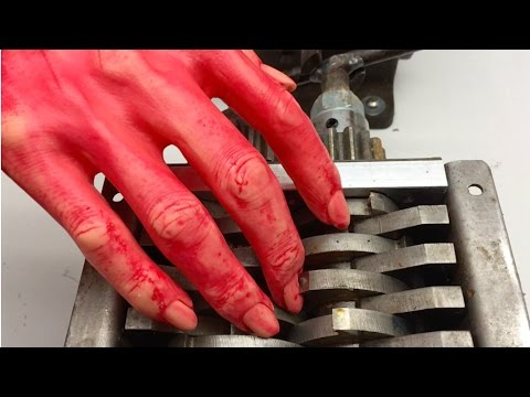 DO NOT PUT YOUR HAND IN A SHREDDER! | Shredding Hand | Shredding Stuff