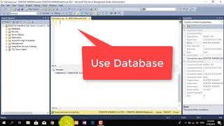 كيفية إنشاء قاعدة بيانات (SQL)قبل الاستعلام .SQLserver با الكردي